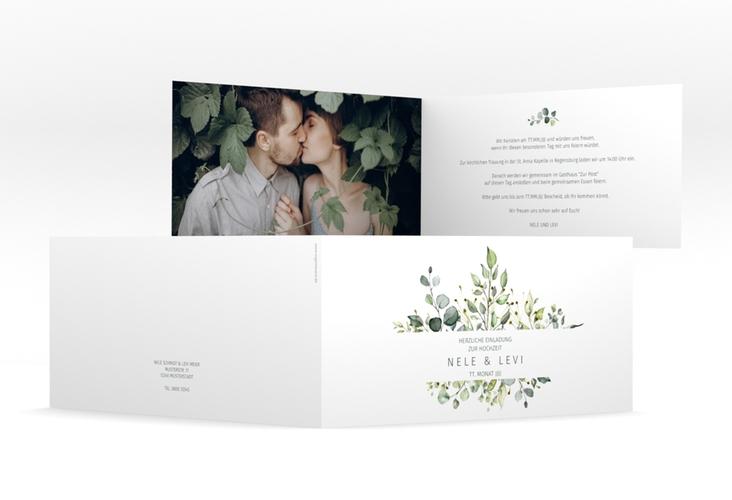 "Hochzeitseinladung ""Enchanting"" DIN lang Klappkarte"