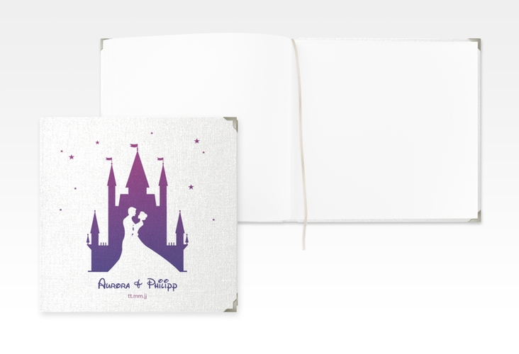 "Gästebuch Selection Hochzeit ""Castle"" Leinen-Hardcover lila"