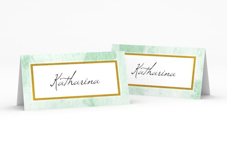 """Tischkarte Hochzeit """"Marble"""" Tischkarten gruen"""