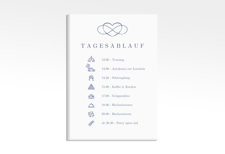 "Tagesablauf Leinwand Hochzeit ""Infinity"" 50 x 70 cm Leinwand"