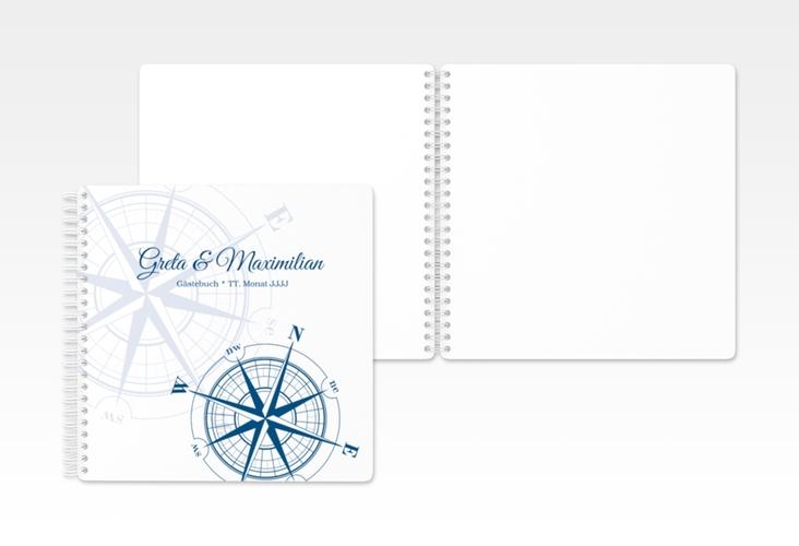 "Gästebuch Hochzeit ""Windrose"" Ringbindung"