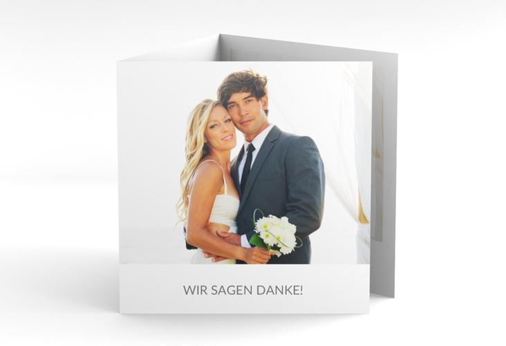 "Dankeskarte Hochzeit ""Vista"" Quadr. Karte doppelt"