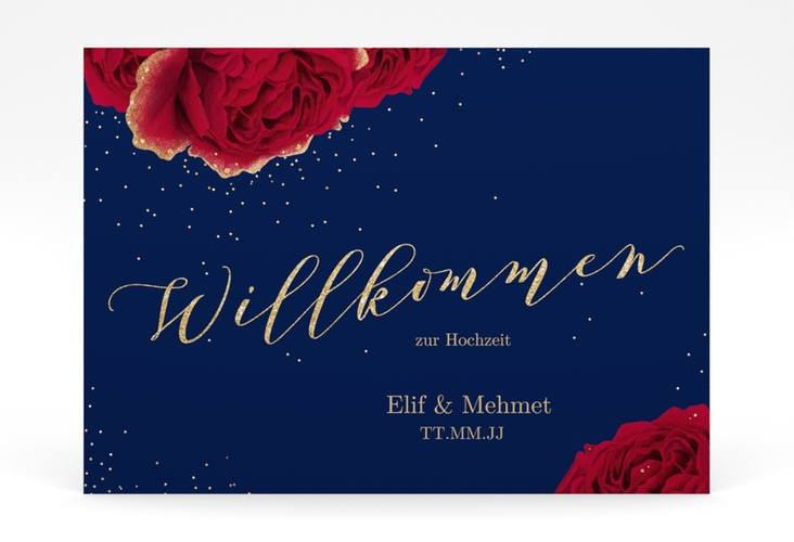 "Willkommensschild Poster ""Cherie"" 70 x 50 cm Poster"