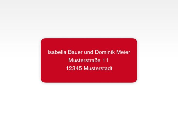 """Absenderetikett Hochzeit """"Gallery"""" 45,7 x 21,2 mm rot"""