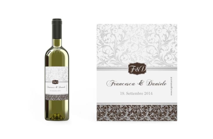Etichette vino matrimonio collezione Latina Etikett Weinflasche 4er Set