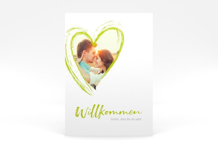 """Willkommensschild Poster """"Liebe"""" 50 x 70 cm Poster gruen"""