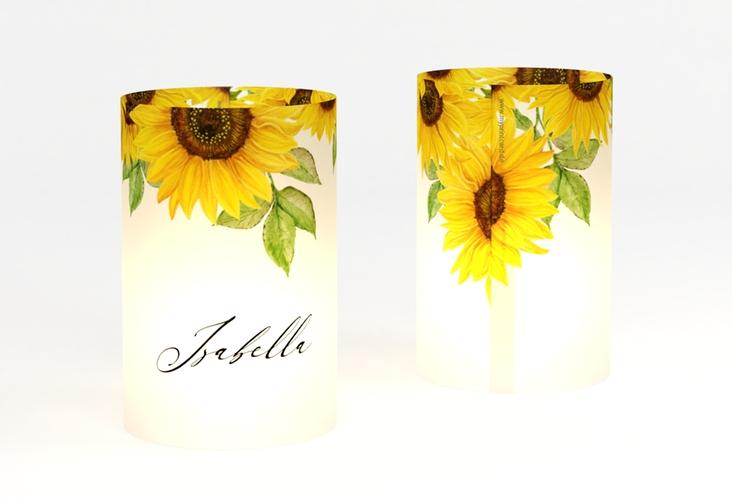 """Windlicht Hochzeit """"Sonnenblume"""" Windlicht"""