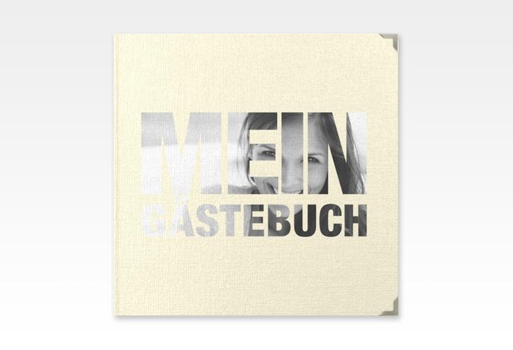 """Gästebuch Selection Geburtstag """"Numbers"""" Hardcover beige"""