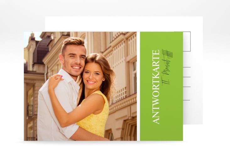"Antwortkarte Hochzeit ""Classic"" A6 Postkarte gruen"