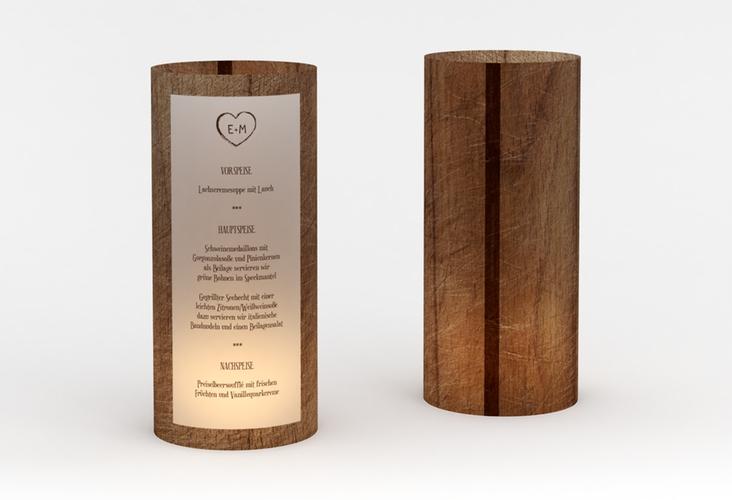 """Windlicht Menü Hochzeit """"Wood"""" Windlicht"""