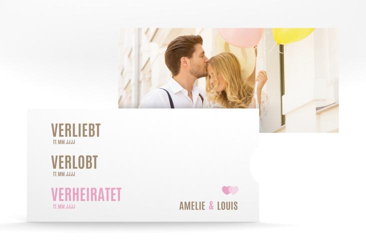 """Hochzeitseinladung """"Couple"""" Einsteckkarte"""