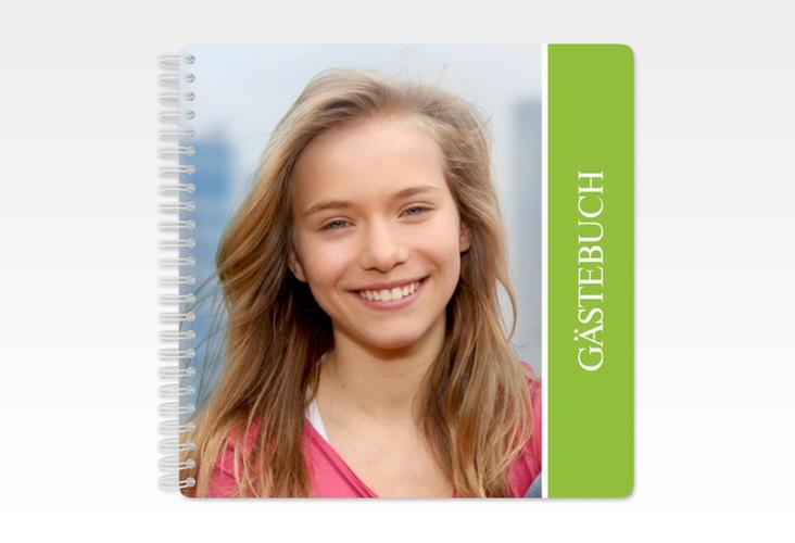 "Gästebuch Konfirmation ""Vertrauen"" Ringbindung gruen"