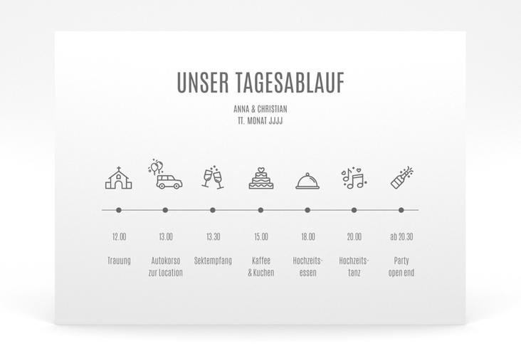 """Tagesablauf Poster Hochzeit """"Amazing"""" 70 x 50 cm Poster weiss"""