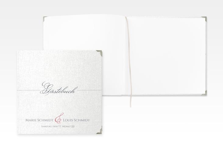 "Gästebuch Selection Hochzeit ""Pure"" Leinen-Hardcover rot"