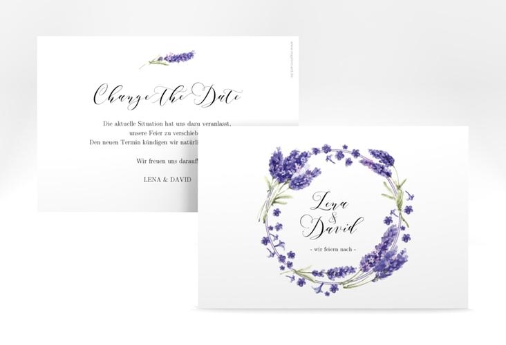 "Change the Date-Karte ""Lavendel"" A6 quer"