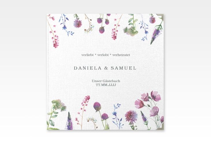 """Gästebuch Selection Hochzeit """"Wildblumen"""" Hardcover"""