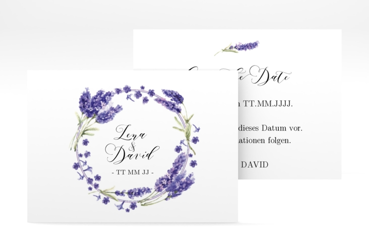 """Save the Date-Visitenkarte """"Lavendel"""" Visitenkarte"""