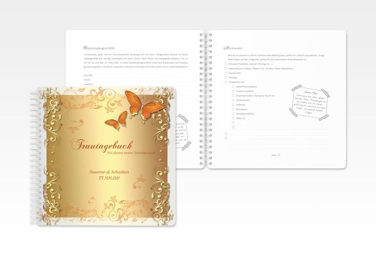 """Trautagebuch Hochzeit """"Toulouse"""" Trautagebuch Hochzeit orange"""
