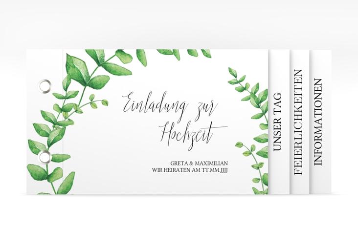 """Hochzeitseinladung """"Botanic"""" Booklet"""