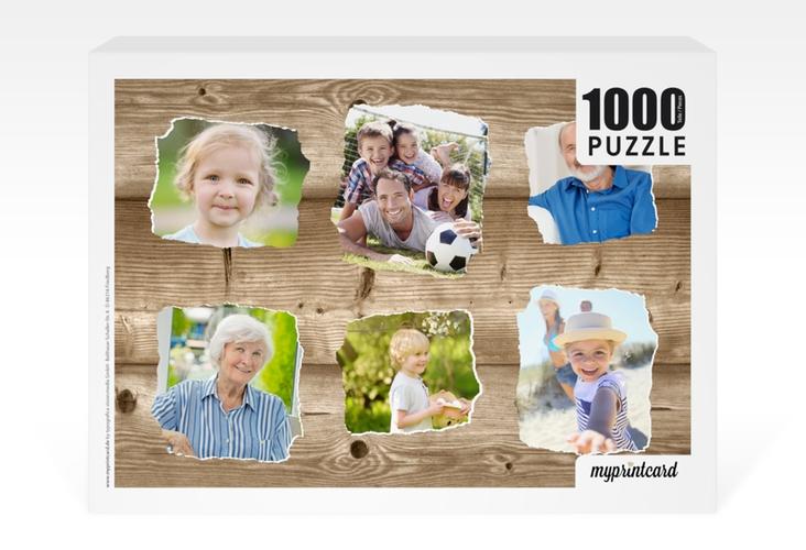 """Fotopuzzle 1000 Teile """"Holzig"""" 1000 Teile braun"""