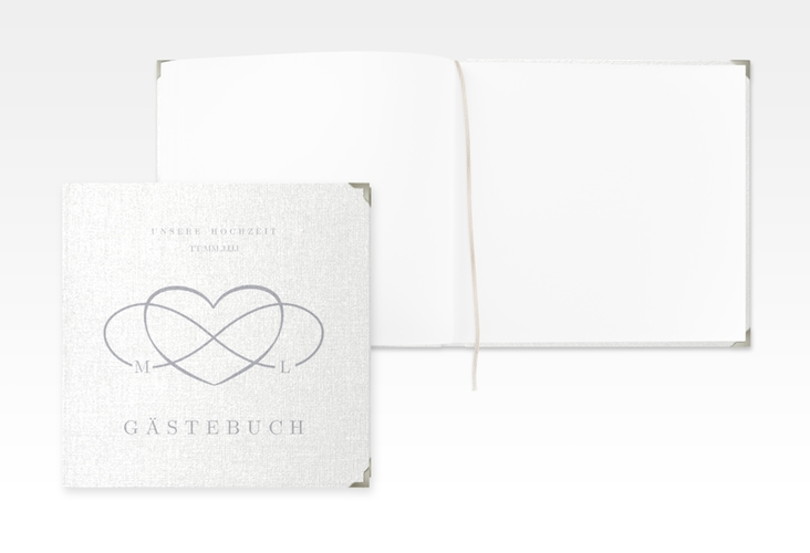 "Gästebuch Selection Hochzeit ""Infinity"" Leinen-Hardcover grau"