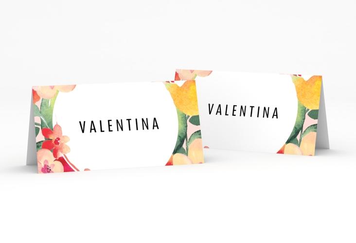"""Tischkarte Hochzeit """"Exotic"""" Tischkarten apricot"""