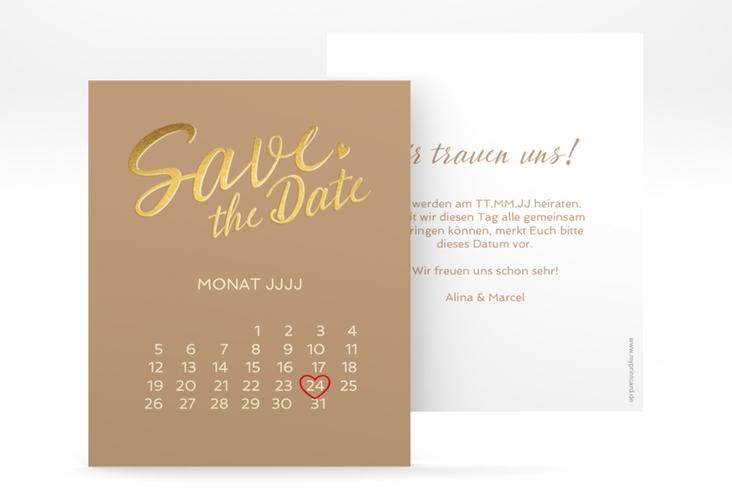 "Save the Date-Kalenderblatt ""Glam"" Kalenderblatt-Karte"