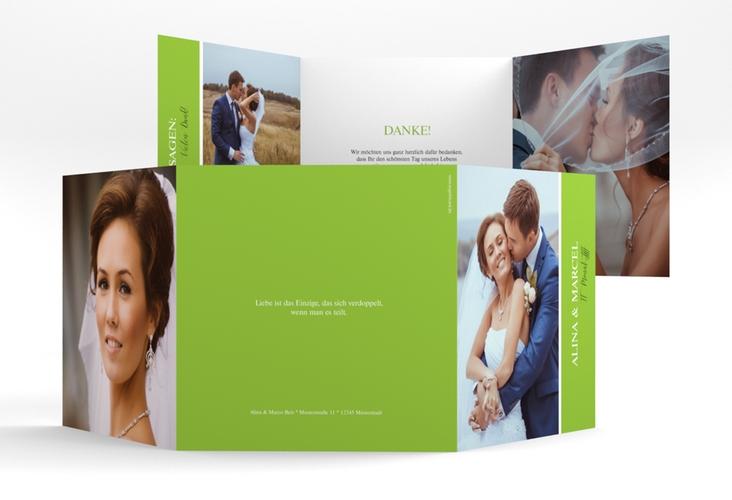 "Dankeskarte Hochzeit ""Classic"" Quadr. Karte doppelt"