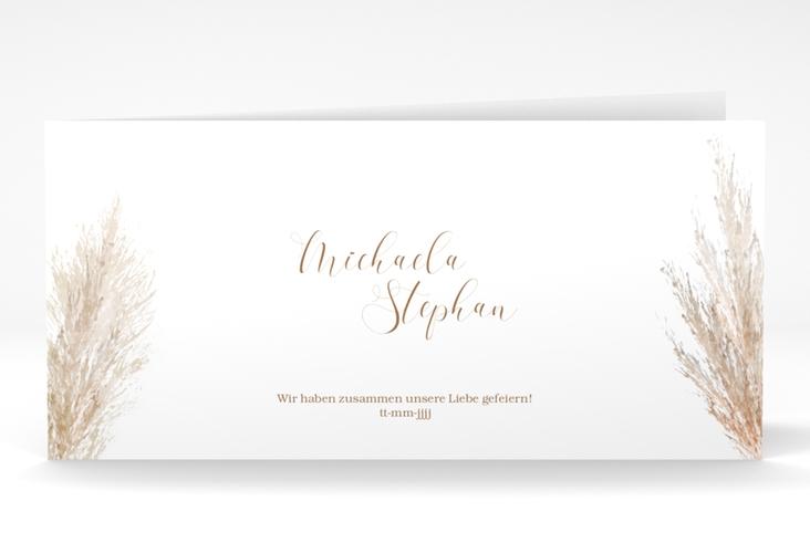 "Dankeskarte Hochzeit ""Pampasgras"" DIN lang Klappkarte"