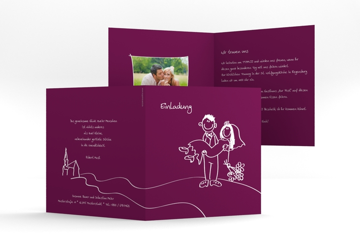 "Hochzeitseinladung ""Pisa"" Quadratische Klappkarte"