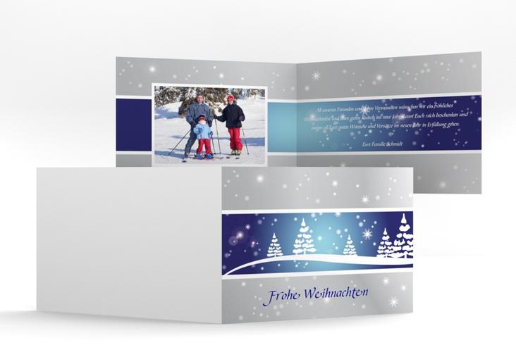 "Weihnachtskarte ""Magical"" A6 Klappkarte Quer"