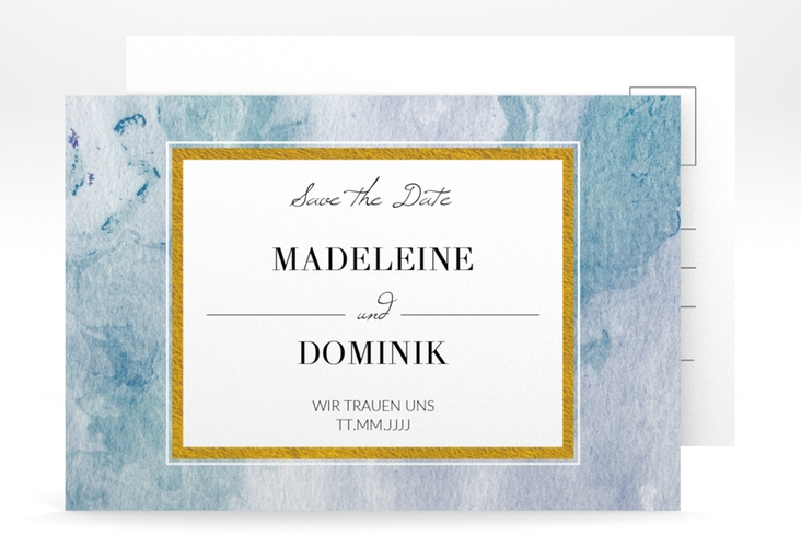 "Save the Date-Postkarte ""Marble"" A6 Postkarte"