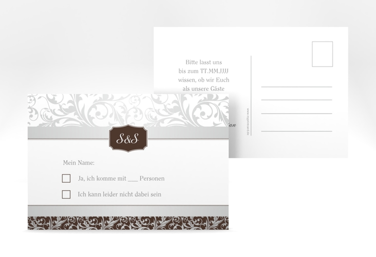 "Antwortkarte Hochzeit ""Latina"" A6 Postkarte"