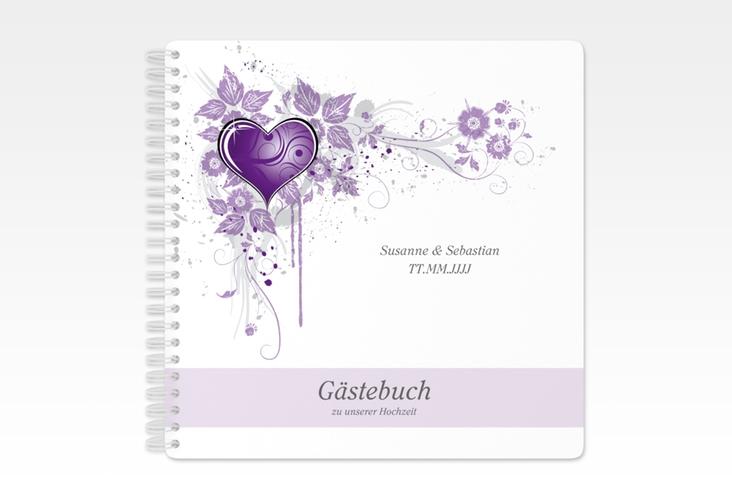 """Gästebuch Hochzeit """"Triest"""" Ringbindung"""