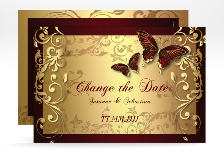 "Change the Date-Karte ""Toulouse"" A6 quer"