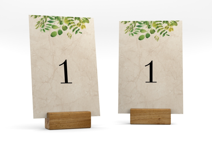 """Tischnummer Hochzeit """"Botany"""" Tischaufsteller"""