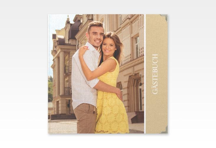 """Gästebuch Selection Hochzeit """"Classic"""" Leinen-Hardcover beige"""