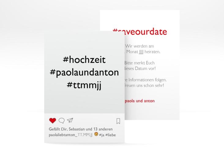 "Save the Date-Visitenkarte ""Posting"" Visitenkarte"