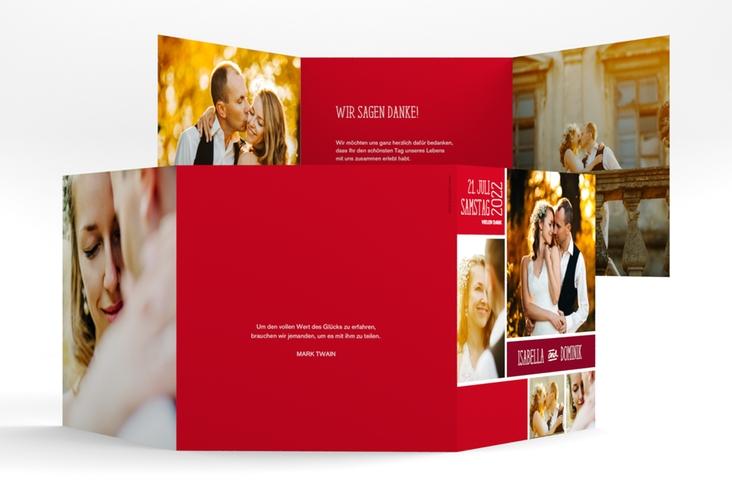 """Dankeskarte Hochzeit """"Gallery"""" Quadr. Karte doppelt"""