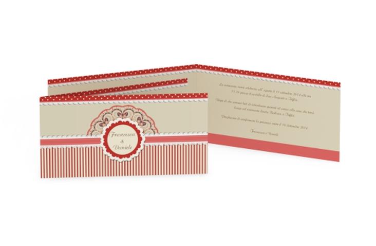 Inviti matrimonio collezione Sorrento DIN lang Klappkarte rosso