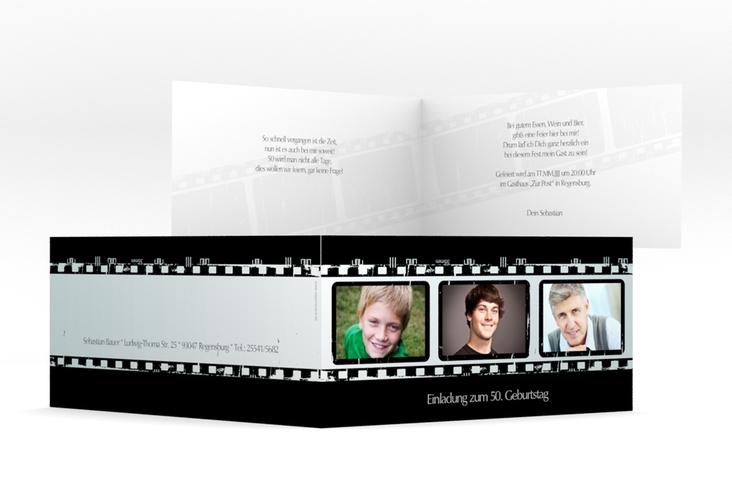 """Einladungskarte """"Christian/Christine"""" DIN lang Klappkarte"""