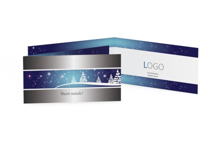 Biglietti natalizi albero metallico DIN lang Klappkarte
