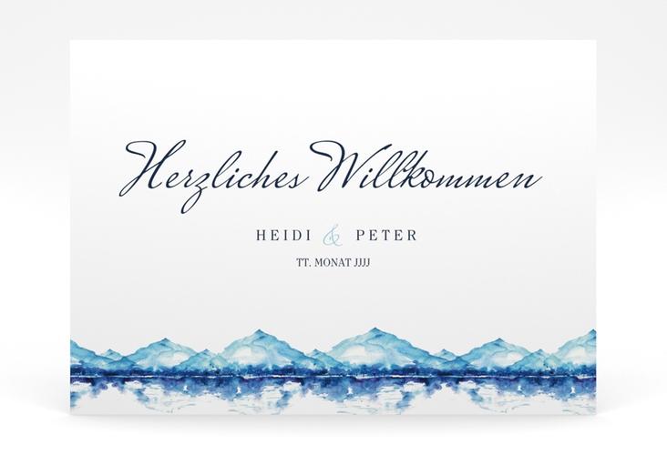 """Willkommensschild Poster """"Bergliebe"""" 70 x 50 cm Poster"""
