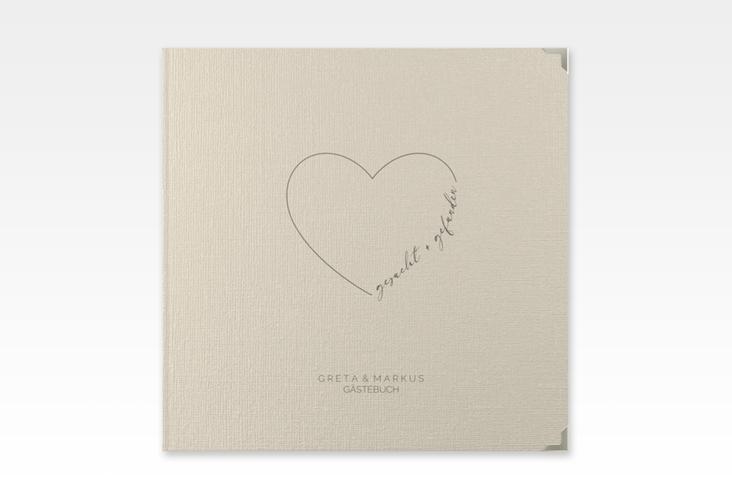"""Gästebuch Selection Hochzeit """"Lebenstraum"""" Leinen-Hardcover beige"""