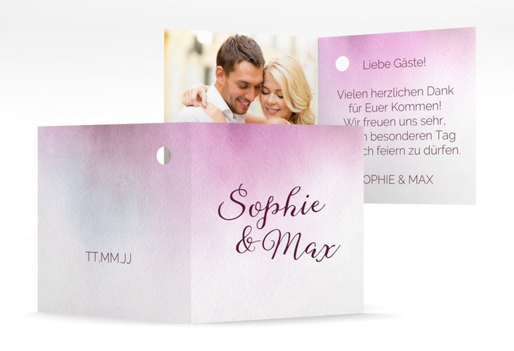 "Geschenkanhänger Hochzeit ""Ombre"" Geschenkanhänger 10er Set rosa"