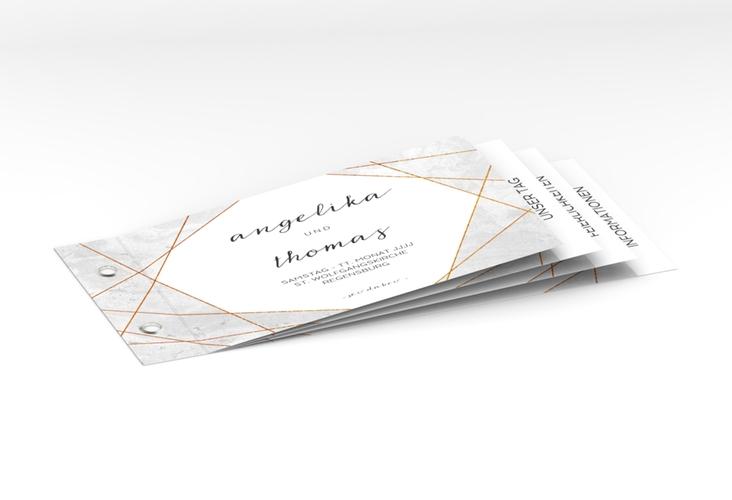 """Hochzeitseinladung """"Asymmetry"""" Booklet"""