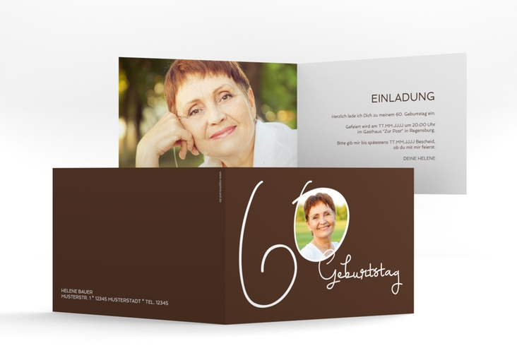 "Einladungskarte ""Swing"" A6 Klappkarte Quer"
