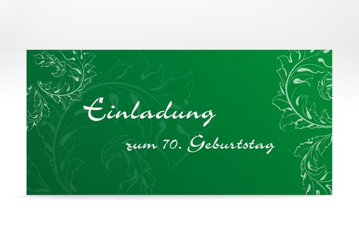 """Einladungskarte """"Peter/Petra"""" DIN lang gruen"""