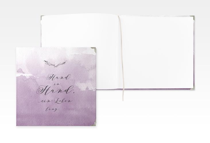 """Gästebuch Selection Hochzeit """"Divine"""" Leinen-Hardcover flieder"""