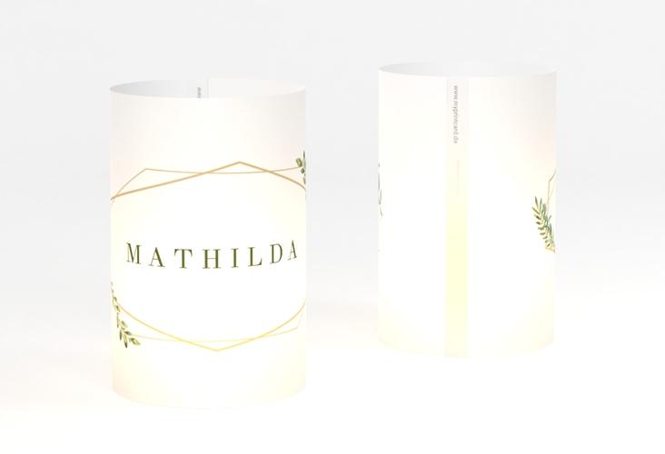 """Windlicht Hochzeit """"Herbarium"""" Windlicht gold"""